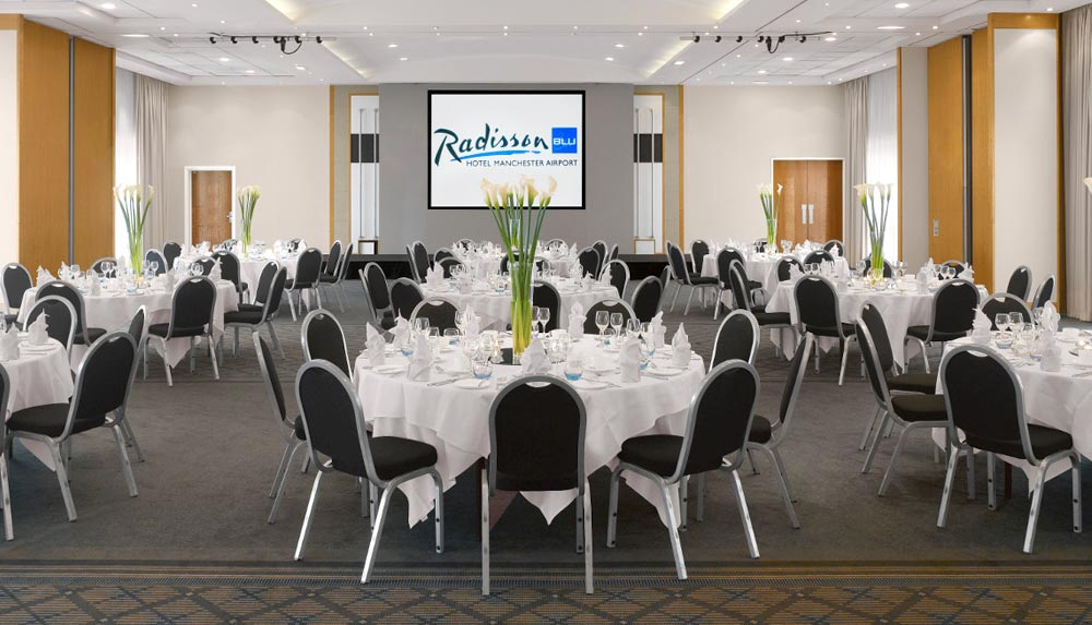 Management training conference room in The Radisson Blu Hotel in Manchester
