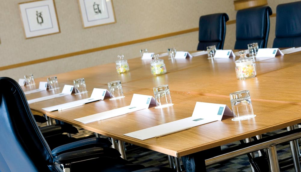 The Thorpe Park Hotel management training meeting room in Leeds
