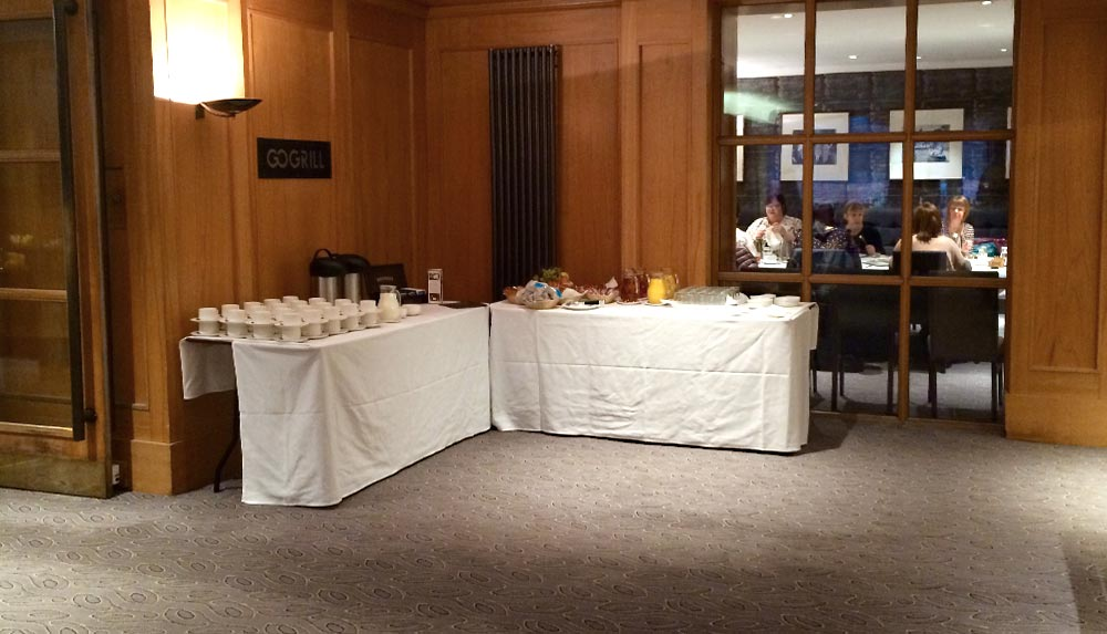 Refreshment table for management courses in glasgow