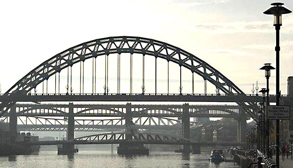 Newcastle Bridges across The Tyne
