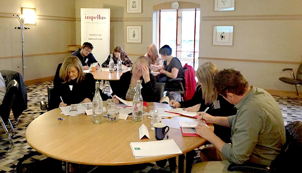 Impellus' delegates considering tasks they can delegate on return to the workplace