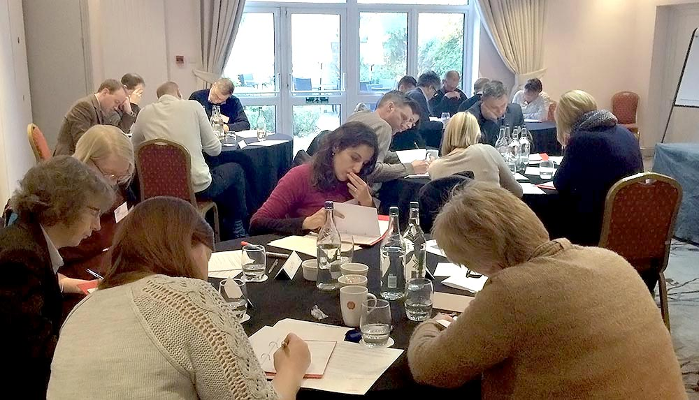 Impellus' delegates analysing different leadership styles